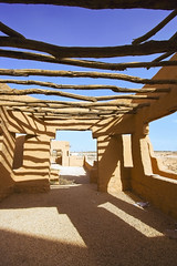Old Building In Diriyah 2 (CristalArt) Tags: wood old blue roof sky white building colors yellow digital photoshop canon lens photography sand raw shadows view angle stones no wide super structure historic east experience walls middle riyadh 1022mm cultural ksa diriyah overtheexcellence goldstaraward