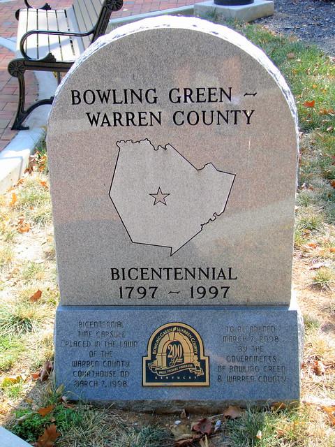 Bowling Green Bicentennial Marker