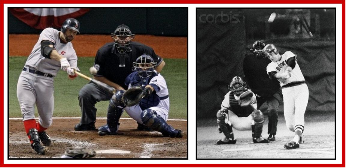 varitek - fisk swinging collage