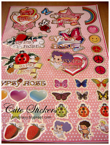 Gypsy Rose: Pink Acoustic Guitar & Cute Stickers