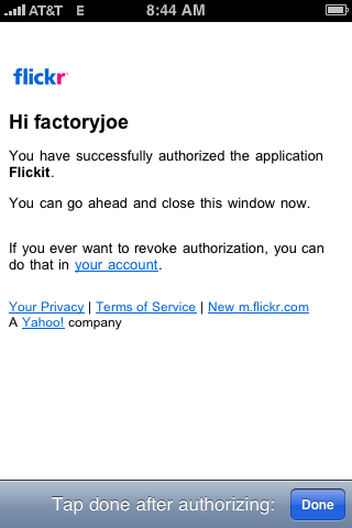 Authorization Success