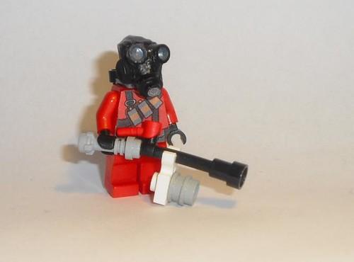 Lego Team Fortress2 pyro custom minifig
