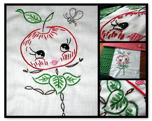 happy apple mosaic