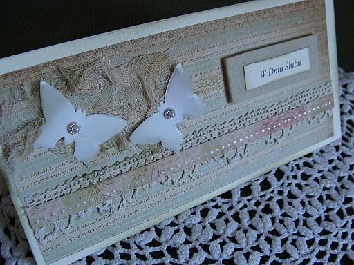 kartka ślubna - motyle
