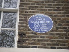 Photo of Samuel Taylor Coleridge blue plaque
