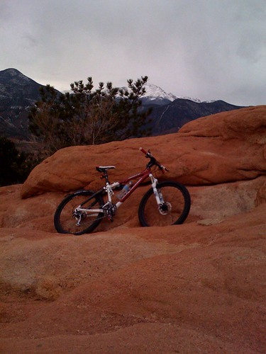 My Rocky Mountain bicycle in the Rocky Mountains