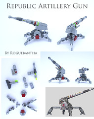 Repart (Rogue Bantha) Tags: starwars republic lego mini clonewars republicartillerygun