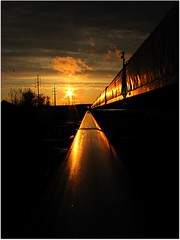 sunset on the tracks