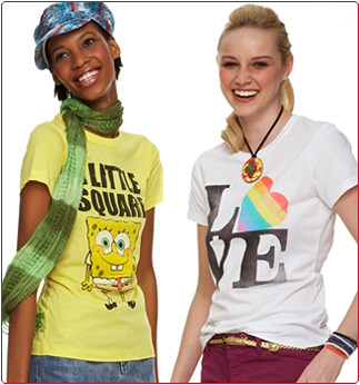 Hot Trends - Spring 2009 - Screen Tees at Loehmanns Discount Fashion Store