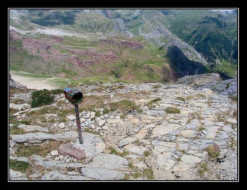 Buzón montañero en la cima de Chipeta Alto