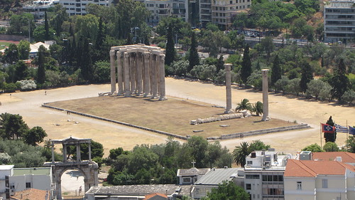 Temple of Zeus from the Acropolis