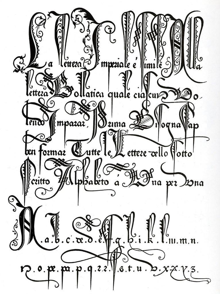 Tipografía ornamental antigua