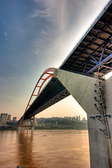 Yangzi river bridge (wu.peng) Tags: china bridge river build chongqing yangzi