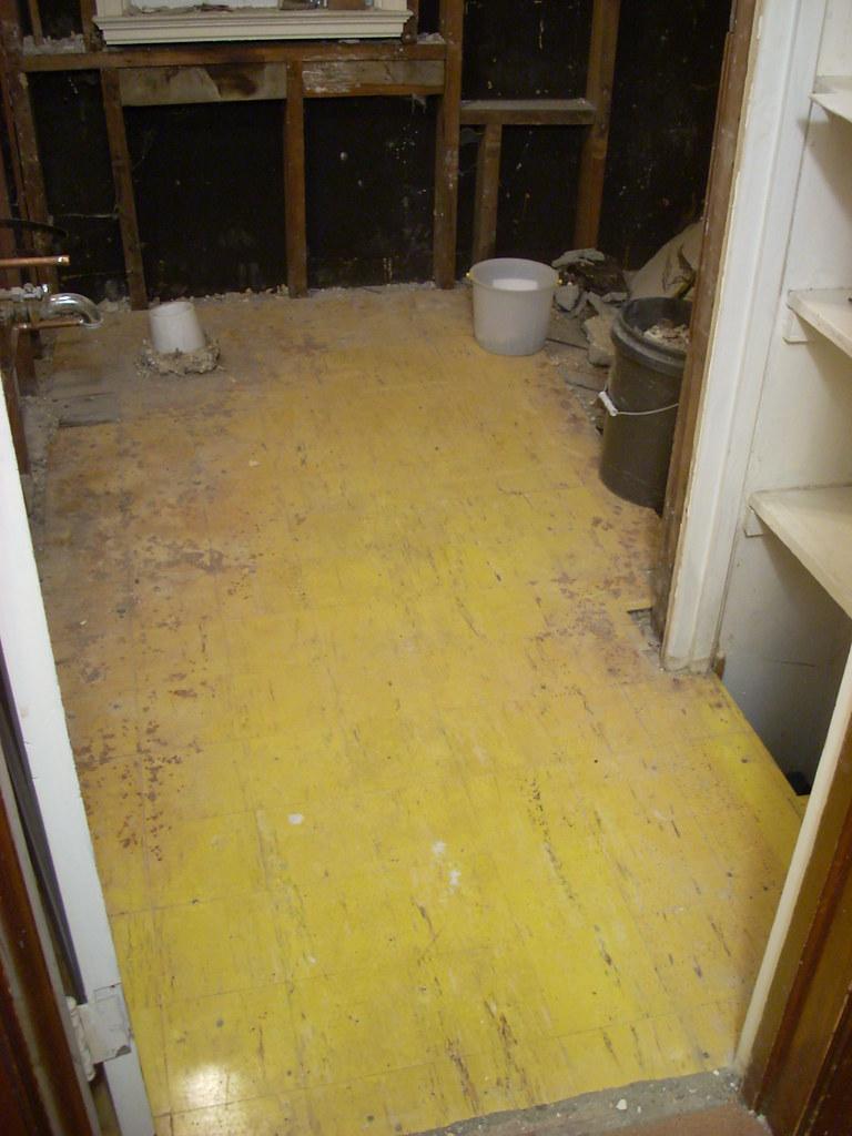 the original bathroom floor