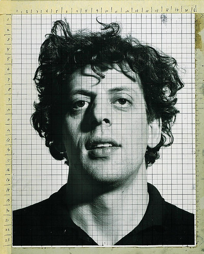 LivingHome- Chuck Close Working Photograph For Phil by LivingHome Wall Decor from Kim Garretson
