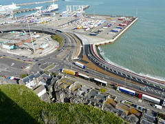 Lorries only A20 exit road ? (Paul @ Doverpast.co.uk) Tags: road uk england port docks kent only exit ferries dover a20 lorries verry