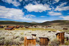 Bodie wide shot (photomato) Tags: california statepark sky clouds town antique decay ghosttown bodie sierranevada miner goldrush dn