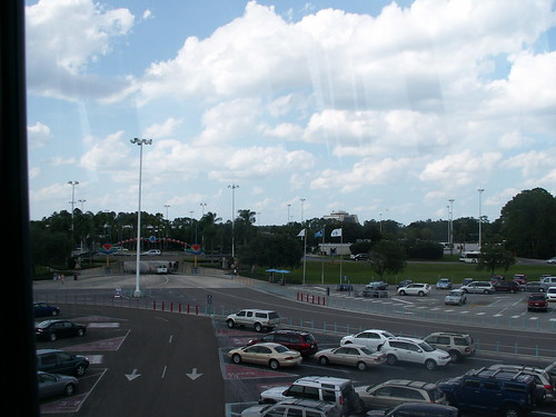 Magic Kingdom parking from Monorail