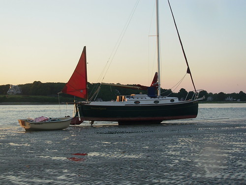 beach sailboat mud beached keel duxbury saquish