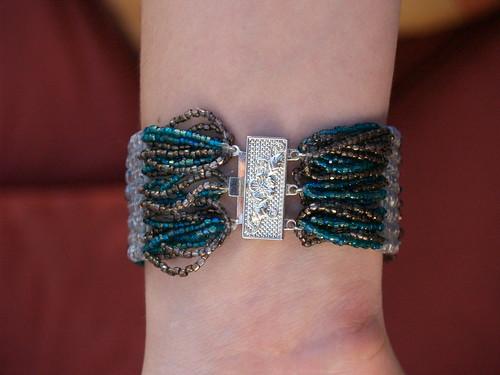 Brick Stitch Bracelet back