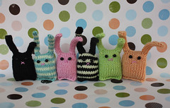 Tiny Bunny Nuggets all in a row... (Squirrel Junkie) Tags: bunnies knitting knit knitted squirreljunkie bunnynuggets