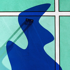Elvis (daliborlev) Tags: shadow abstract lines silhouette wall square eyes paint geometry brno plexiglass mundanedetail itsthekingicanseehishaircut