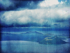 Gritty.Grungy.Blue (Gilbert Rondilla) Tags: camera blue lake color texture nature horizontal photomanipulation photoshop point photography volcano photo nikon shoot grunge philippines monotone gritty explore caldera gilbert filipino duotone digicam tagaytay taal notmycamera own pinoy s10 grungy borrowedcamera pns taalvolcano tagaytaycity rondilla notmyowncamera gilbertrondilla gilbertrondillaphotography luisianian