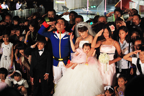 Wedding ceremony w/ Odaiba Gundam