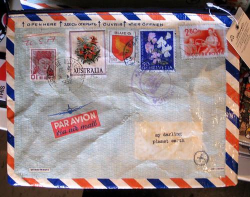 Blue Q airmail pouch