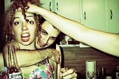 (carly rabalais) Tags: film kitchen beer arm crossprocess megan redhead hairyarm mcney