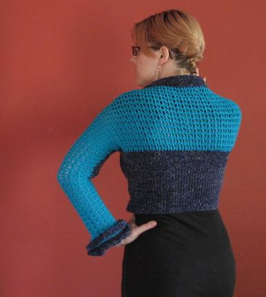 Crochet Shrug 1, back view