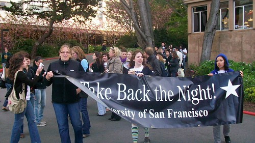 Foghorn Archives  The GSWRC was opened after several incidents of sexual violence were reported on USF campus last spring, launching a student movement against sexual violence, including this Take Back the Night march, lead by Jenna Recupero, Jenny Reed, and Erika Carlsen.