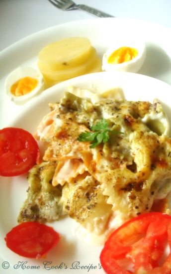 Pasta with Egg's, Tomatoes & Potato.