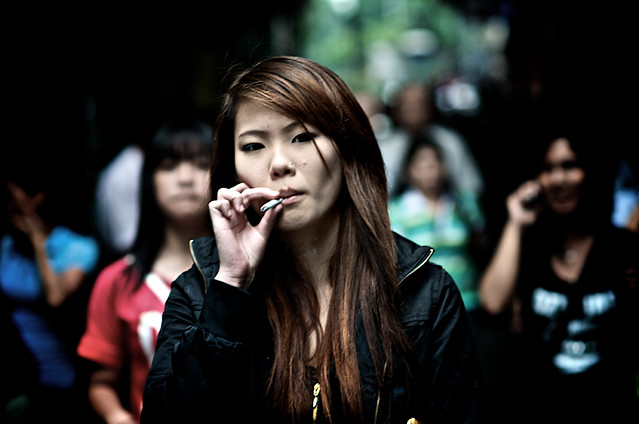 Smoker girl photographed by Danny Santos II