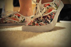 urban (Claudia Lauren) Tags: shadow colors shoes colorful floor bright urbanoutfitters canvas project365 canvasshoes