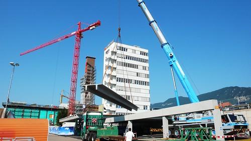 Crane Work at Migros, Langendorf