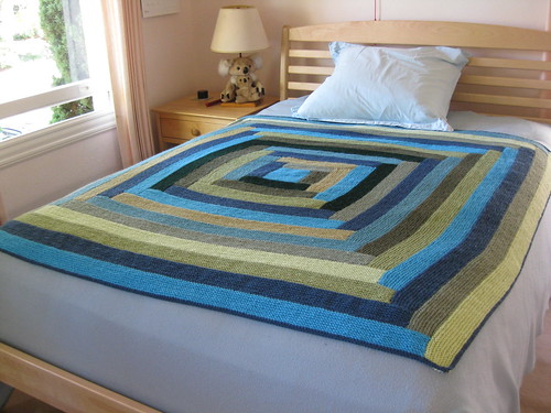 Blue log cabin blanket 3