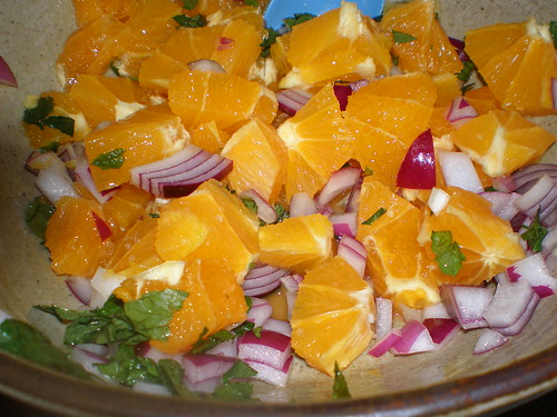 Mint, Orange and Red Onion Salad