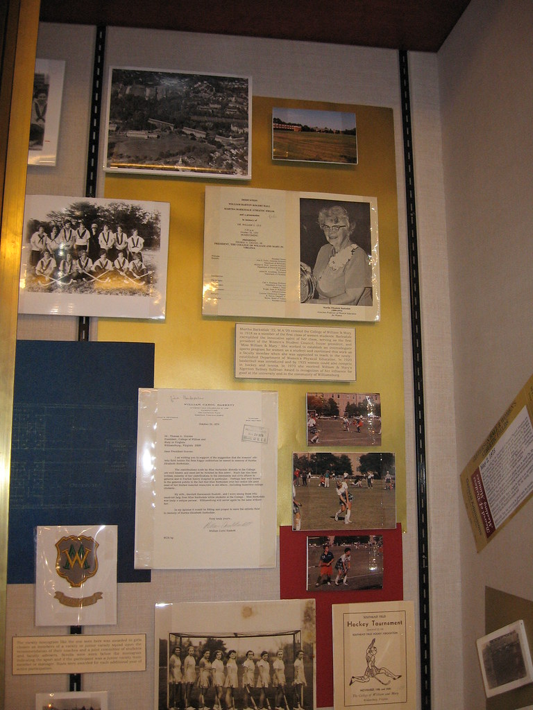 Jefferson Hall & Barksdale Field Exhibit Case