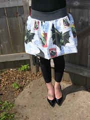 DSCN1724Upcycled Batman  Skirt.