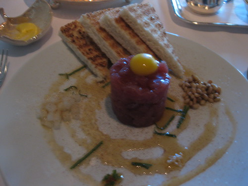 Michael Mina - Ahi Tuna Tartare, Peppers, Bosc Pears, Sesame Oil, Scotch Bonnet