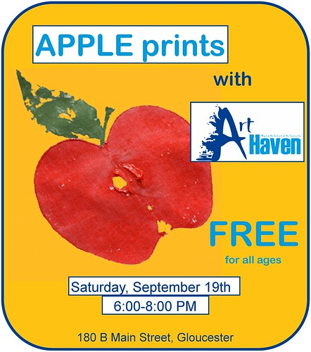 Things To Do- Make Apple Prints With Art Haven At The