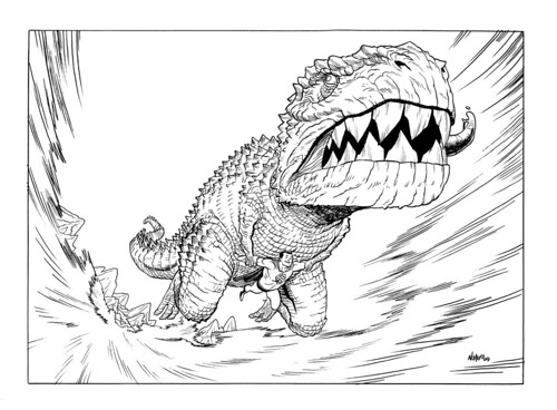 Devil Dinosaur Riding Superman!
