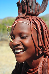 happy himba (luca.gargano) Tags: africa girl smile himba angola gargano namibe ovahimba himbas lucagargano muhimbas muhimba