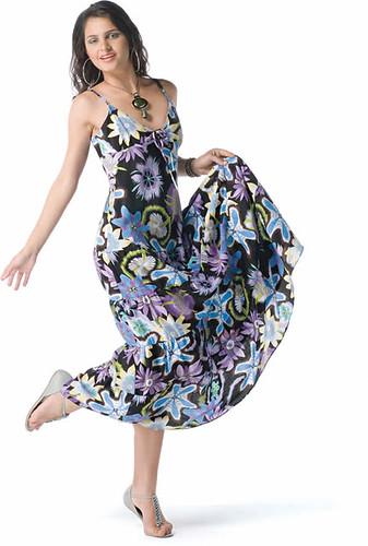 foto de vestido estampado
