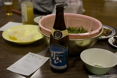 梨と枝豆と月山ビール