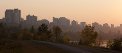 Why I Love My Bike Commute (Daveography.ca) Tags: morning trees skyline sunrise river downtown edmonton alberta valley ravine mackinnon rivervalley mackinnonravine northsaskatchewanrivervalley