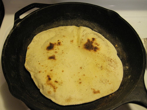 Tortilla after being flipped