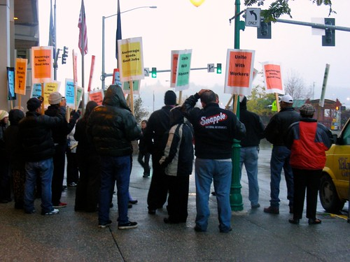 As the day's picketing ended, workers prepared to meet in a few days to continue working for a fair contract.