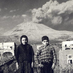Mount Vesuvius and Children from Covered Homes (SMU Central University Libraries) Tags: italy mountains lava mountvesuvius vesuvius volcanoes 1944 erupts sansebastianoalvesuvio